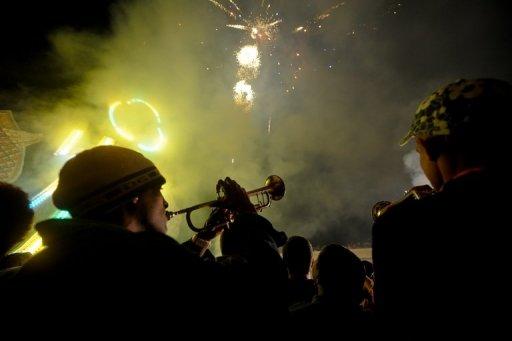 Unos tormpetistas tocan en la ciudad cubana de Remedios el 25 de diciembre de 2010 (AFP/Archivo, Adalberto Roque)