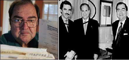 Aznar con Llama y Pepe Hernandez