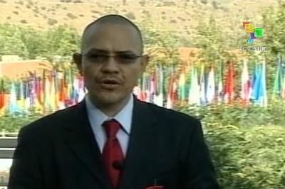 Ernesto Villegas ofreció la información desde Chile. (Foto: teleSUR)
