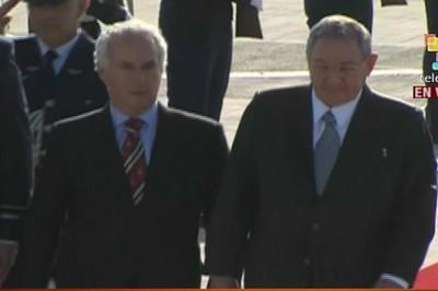 Raúl Castro llegó a Chile en la tarde de este viernes. (Foto: teleSUR)