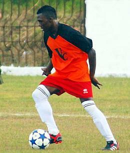 Arichel Hernández, jugador de Villa Clara, fue el goleador en el partido que le dio a Cuba el boleto para el Mundial de Fútbol de la categoría sub 20. (Foto: Carolina Vilches Monzón)