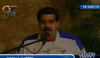 Maduro sostuvo varias sesiones de trabajocon el Presidente en el Hospital Militar de Caracas.Foto: Captura de pantalla