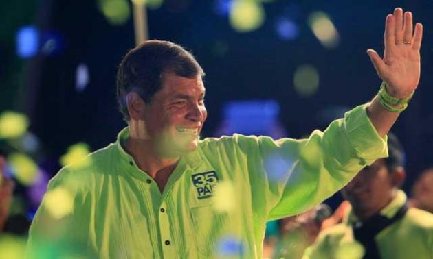 La encuestadora Opinión Pública da 61% a favor de Correa