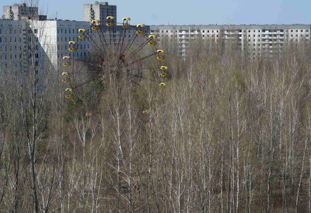La ciudad desierta cerca de la planta de Chernóbil. REUTERS/Gleb Garanich