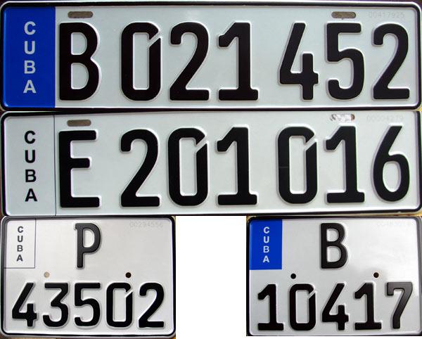 Como estas son las matrículas que circularán en las calles cubanas a partir del próximo 27 de mayo, cuando se implemente el nuevo sistema de chapas de identificación de vehículos.Autor: Juventud Rebelde