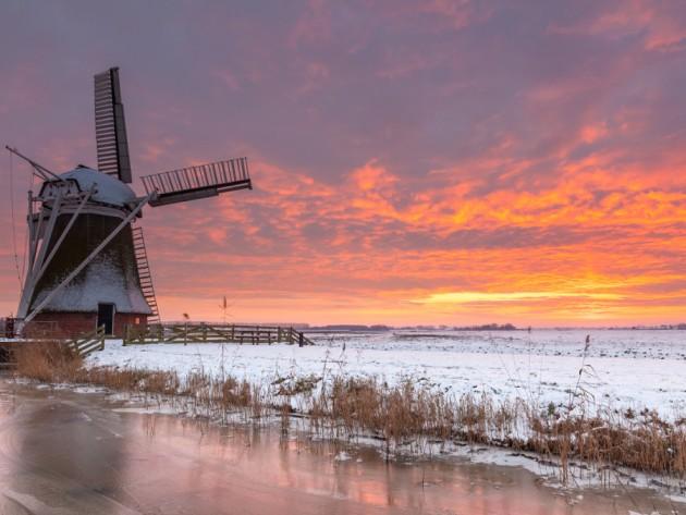 Molino de Meergovel en Holanda   Dutch Skies