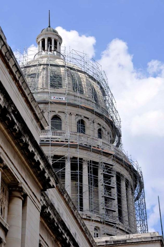 Cuba restaura el monumental edificio del Capitolio Nacional para devolverlo como sede del Parlamento de la isla, reveló el Historiador de Ciudad de La Habana. FOTO: Roberto Suárez