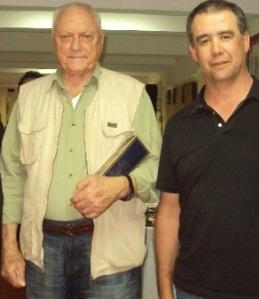 Aldo Zuccolillo, propietario del diario ABC Color, y Armando Rivarola, jefe de redacción adjunto.