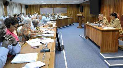 El Consejo de Ministros analizó el informe de liquidación del Presupuesto del Estado correspondiente al 2012, que fue presentado por Lina Pedraza, Ministra de Finanzas y Precios.