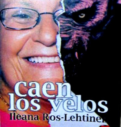 Fragmento de la portada del libro Caen los velos Ileana Ros-Lehtinen de Nicanor León Cotayo