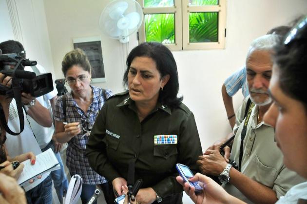 Coronela Idaís Borges Barrios, jefa de la Dirección de Atención a Menores del Ministerio del Interior FOTO: Roberto Suárez