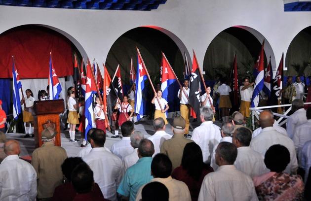 Raúl Castro interviene en el Acto Central por el 55 Aniversario de la Revolución Cubana en el Parque Céspedes, de Santiago de Cuba, el 1 de enero de 2014 FOTO: Roberto Suárez / Juventud Rebelde