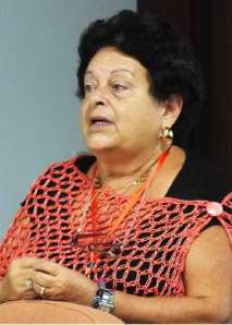 Profesora Teresa Orosa Fraíz. Foto: Radio Rebelde