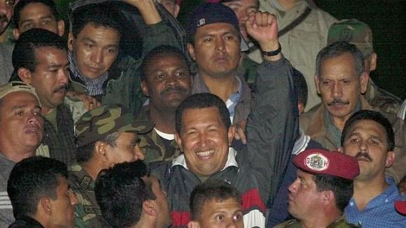 El regreso de Chávez a Miraflores en abril de 2002