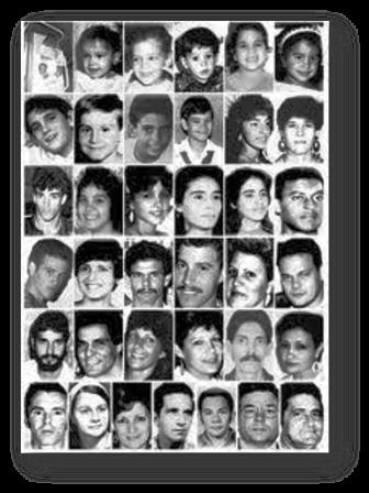Algunas de las víctimas del accidente