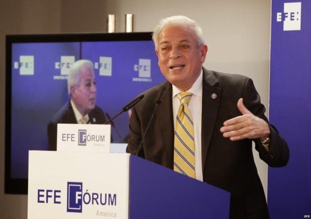 """El alcalde de Miami, Tomás Pedro Regalado, durante el Foro Líderes que organiza Efe titulado """"Miami: Tierra de oportunidades"""". Efe"""