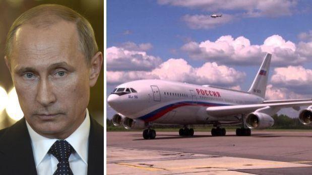 El avión presidencial ruso tiene los colores de los de Malaysia Airlines. (Foto: Reuters / YouTube).