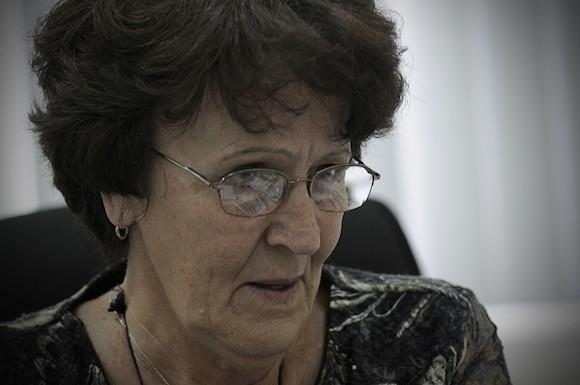 María Isela Lantero Abreu, jefa del Departamento de infecciones de transmisión sexual y VIH/Sida del MINSAP. Foto: René Pérez Massola/ Trabajadores.