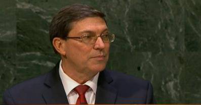"""Declaración del Ministro de Relaciones Exteriores de Cuba, Bruno Rodríguez Parrilla, en el debate general del 69 Período de Sesiones de la Asamblea General de las Naciones Unidas.  Nueva York, 27 de septiembre de 2014, """"Año 56 de la Revolución""""."""