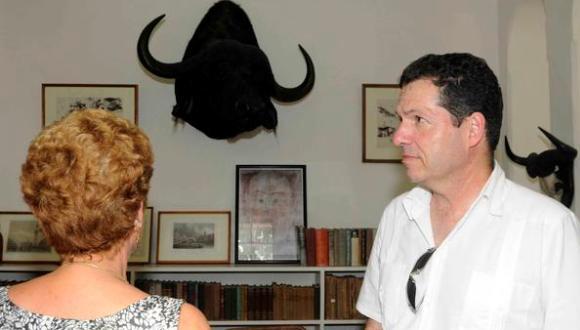 John Hemingway vino a Cuba tras la rica leyenda que une a Hemingway con nuestro país. Foto: Roberto Morejón Rodríguez / AIN.