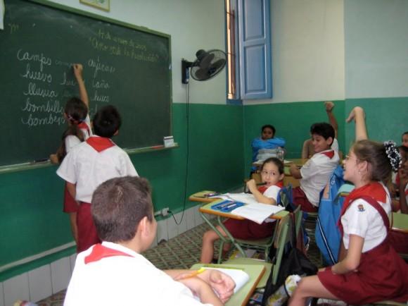Escuela primaria cubana.