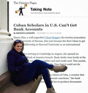 La cancelación de la cuenta bancaria en una sucursal del Bank of América a una estudiante cubana en la Universidad de Harvard, reafirma hoy la crueldad del bloqueo económico que Estados Unidos impone a Cuba