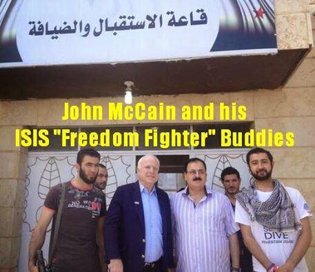 John McCain junto a terrodristas sirios.
