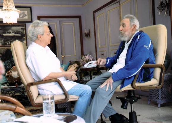 Fidel y Frei Betto el domingo 16 de febrero de 2014.