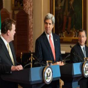 """""""Vamos a avanzar muy de cerca con nuestros vecinos de Canadá y México en estos esfuerzos"""" de restablecimiento de lazos entre EE.UU. y Cuba, ha puntualizado Kerry"""