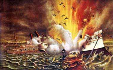 La explosión del Maine y la intervención norteamericana en Cuba