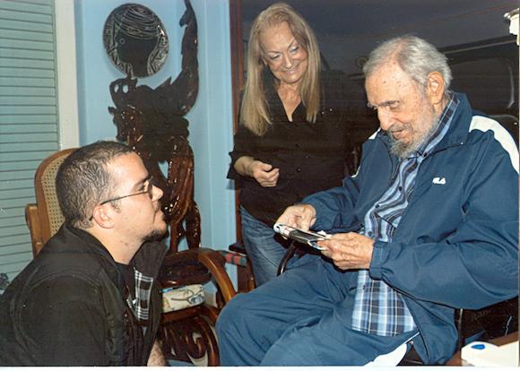 Randy, Dalia y Fidel Castro.