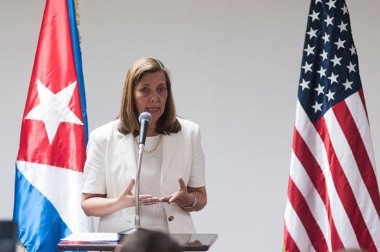 Josefina Vidal, jefa de la delegación cubana a las conversaciones bilaterales con EEUU  FOTO: Roberto Suárez/ Juventud Rebelde