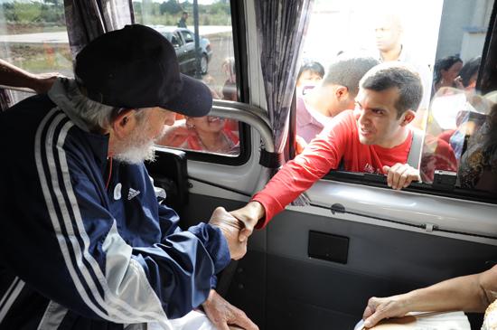 Encuentro de un grupo de venezolanos con el líder histórico de la Revolución. Autor: Juventud Rebelde