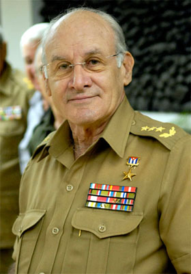 General de Cuerpo de Ejercito, Ministro del Interior y Mienbro del Buro Politico del Comite Central del Partido Comunista de Cuba. Abelardo Colome Ibarra. Fecha:17 Marzo 2007 Foto: Roberto Suarez