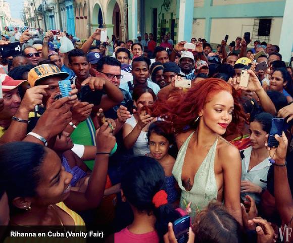 Producción fotográfica con Rihanna para Vanity Fair, a cargo de Annie Leibovitz.